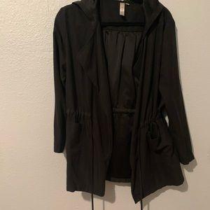 Suede like rain coat
